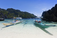 Tropikalna plaża, El Nido, Palawan, Filipiny Zdjęcie Stock