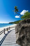 Tropikalna plaża i morze Fotografia Stock