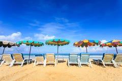 Tropikalna plaża, Karon plaża w Phuket wyspie, Andaman morze, Thail Zdjęcie Stock