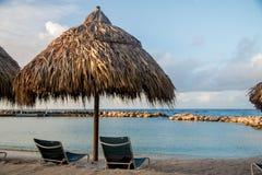Tropikalna plaża przy Curacao Obrazy Stock