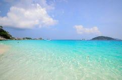 Tropikalna plaża, Similan wyspa Tajlandia Fotografia Royalty Free