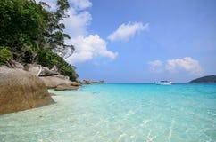 Tropikalna plaża, Similan wyspa Tajlandia Zdjęcia Stock