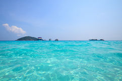 Tropikalna plaża, Similan wyspa Tajlandia Obraz Stock