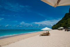 Tropikalna plaża w Bali Obraz Stock