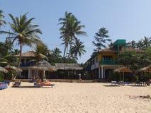 Tropikalna plaża w Hikkaduwa Sri Lanka Zdjęcie Stock