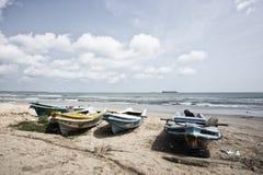 Tropikalna plaża w Sri Lanka blisko Trincomalee Zdjęcia Royalty Free