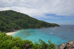 tropikalna podpalana wyspa Zdjęcie Royalty Free