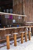 tropikalna prętowa plaża Fotografia Royalty Free