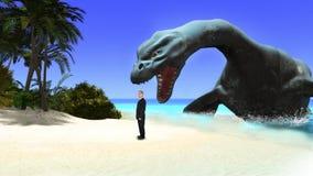 Tropikalna raj wyspa, biznes, niebezpieczeństwo Obraz Royalty Free