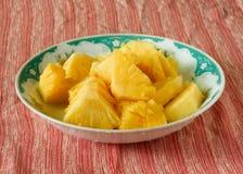 Tropikalna słodka ananasowa owocowa taca Fotografia Royalty Free