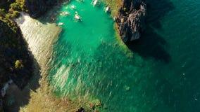 Tropikalna seawater laguna, Filipiny, El Nido zbiory wideo