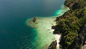Tropikalna seawater laguna i pla?a, Filipiny, El Nido zdjęcie wideo