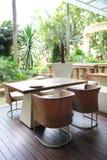 Tropikalna Stylowa restauracja Obrazy Stock