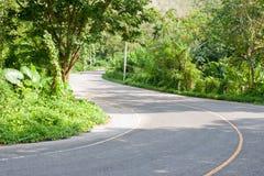 Tropikalna wiejska droga Zdjęcie Royalty Free