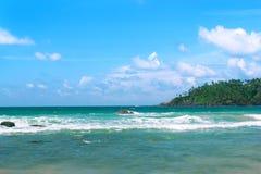 Tropikalna wyspa w oceanie indyjskim Zdjęcie Stock