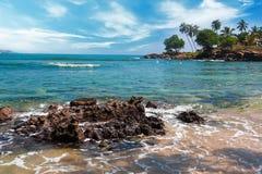 Tropikalna wyspa w oceanie indyjskim Obraz Stock