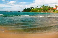Tropikalna wyspa w oceanie indyjskim Zdjęcie Royalty Free