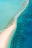 Tropikalna wyspy antena Fotografia Royalty Free