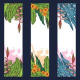 Tropikalne Kwieciste pionowo odznaki Fotografia Royalty Free