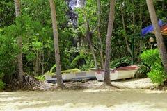 Tropikalne łodzie Obrazy Royalty Free