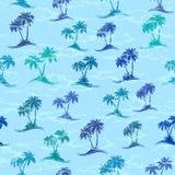 Tropikalne palmy Bezszwowe Zdjęcia Stock