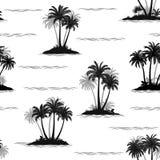 Tropikalne palmy Bezszwowe ilustracja wektor