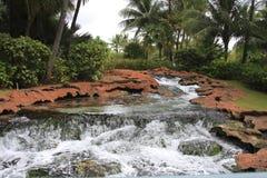 Tropikalne rzeczne skały Zdjęcia Royalty Free