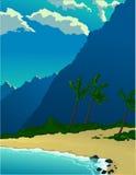 tropikalne wysp góry royalty ilustracja