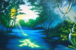 Tropikalnego lasu deszczowego tło Obraz Stock