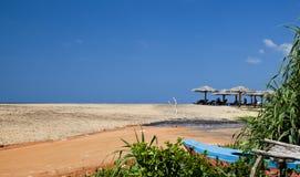 Tropikalnego raju idylliczna plaża. Sri Lanka Zdjęcia Royalty Free