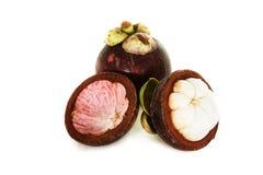 Tropikalnej owoc mangostan Zdjęcia Stock