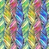 Tropikalni bananowi palma liście w multicolor wzorze royalty ilustracja