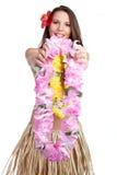 tropikalni dziewczyn lei Fotografia Royalty Free
