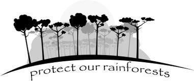 Tropikalni lasy deszczowi w szarych kolorach Obrazy Stock