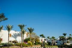 Tropikalni lokacja bielu domy Obrazy Stock