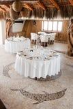 tropikalni obiadowi stoły Obraz Royalty Free