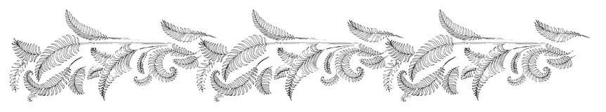Tropikalni palma liście, dżungla Opuszczają Bezszwowego Wektorowego Kwiecistego Deseniowego tło royalty ilustracja