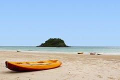 tropikalni plażowi kajaki Zdjęcie Stock