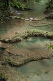 Tropikalni spada kaskadą baseny woda, podróż Zdjęcia Stock