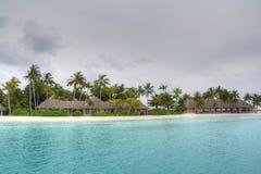 Tropikalni wyspa domy Fotografia Stock