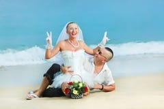 tropikalny ślub Obrazy Royalty Free