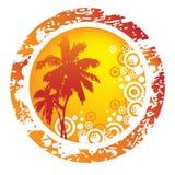 tropikalny abstrakcjonistyczny tło Obraz Royalty Free