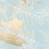 Tropikalny Będący ubranym Kwiecisty pastelowych menchii rumiena złota wzór fotografia stock