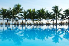 tropikalny basenu Zdjęcie Stock