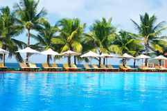 tropikalny basenu Obraz Royalty Free