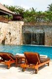 tropikalny basenu dopłynięcie Fotografia Royalty Free