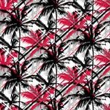 Tropikalny Czarny I Biały wzór ilustracja wektor