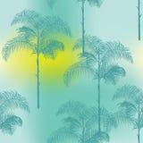 Tropikalny drzewka palmowego tło ilustracja wektor