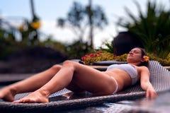 tropikalny dziewczyna raj Fotografia Stock