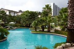 Tropikalny hotel w kurorcie obraz royalty free